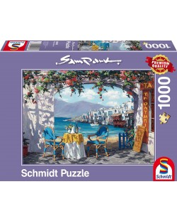 Пъзел Schmidt от 1000 части - Среща на Миконос, Сам Парк