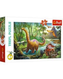 Пъзел Trefl от 60 части - Мигриращи Динозаври