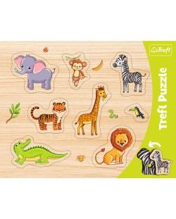 Детски пъзел Trefl - Диви животни