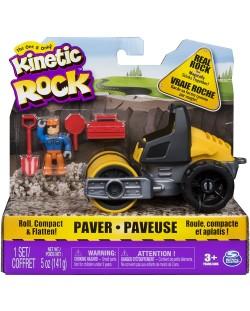 Игрален комплект с кинетичен пясък Kinetic Rock - Пътностроителна техника