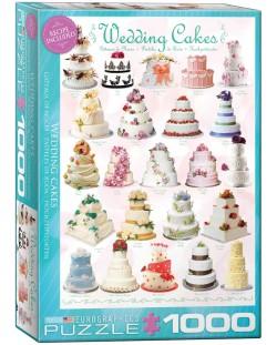 Пъзел Eurographics от 1000 части –  Сватбени торти