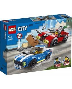 Конструктор Lego City Police - Полицейски арест на магистралата (60242)