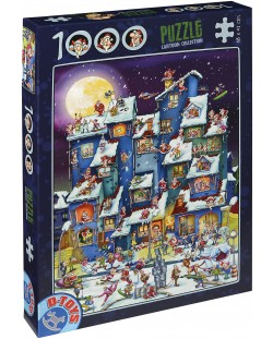 Пъзел D-Toys от 1000 части – Дядо Коледа