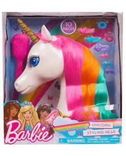 Модел за прически Barbie Dreamtopia - Еднорог, 10 части