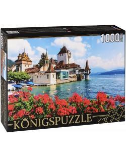 Пъзел Königspuzzle от 1000 части - Замък във водата