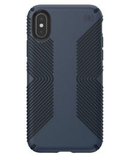 Калъф Speck - Presidio Grip, за iPhone XS, eclipse blue/carbon black