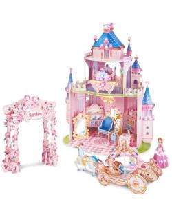 3D Пъзел Cubic Fun от 92 части - Тайната градина на принцесата, с 493 камъчета