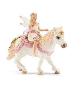Фигурка Schleich от серията Баяла Илорис: Лилиева елфа на пони