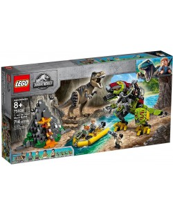 Конструктор Lego Jurassic World - T.Rex vs. Dino-Mech Battle (75938)