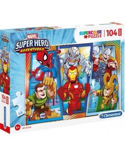 Пъзел Clementoni от 104 макси части - Супергероите на Марвел