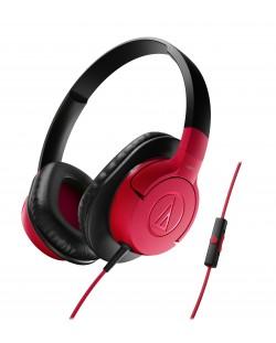 Слушалки Audio-Technica - ATH-AX1iS, червени