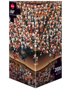 Пъзел Heye от 2000 части - Оркестър, Жан-Жак Луп