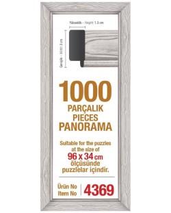 Рамка за панорамен пъзел Art Puzzle  - Бяла, за 1000 части
