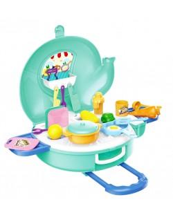 Игрален комплект Bowa - Кухня в куфарче-слонче, 27 части