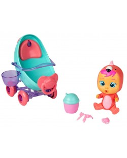 Комплект IMC Toys Cry Babies Magic Tears - Плачеща кукла Фенси с количка