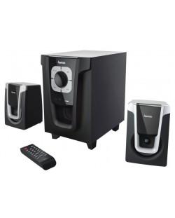 Аудио система HAMA PR-2120 - 2.1, 2x5W+10W, черна