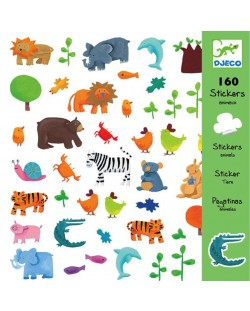 Стикери Djeco - Животни, 160 броя