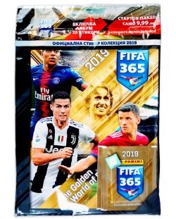 Стартов Пакет - Албум с 5 пакетчета стикери Panini FIFA 365 2019