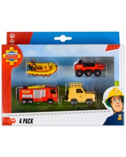Игрален комплект Dickie Toys - Пожарникарят Сам (асортимент)