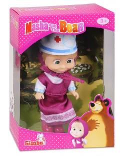 Кукла Simba Toys Маша с розова рокля и лекарска шапка