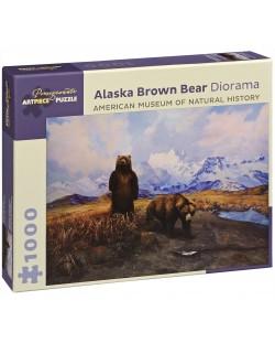 Пъзел Pomegranate от 1000 части - Кафява мечка в Аляска, Сири Шилиос