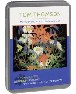Пъзел Pomegranate от 100 части - Маргаритки, Козлец и Фий, Том Томсън