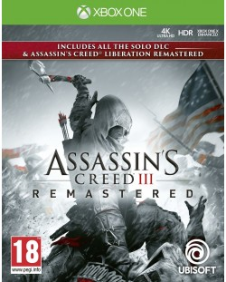Assassin's Creed III Remastered + All Solo DLC & Assassin's Creed Liberation (Xbox One)