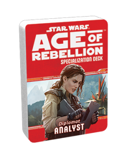 Допълнение за ролева игра Star Wars: Age of Rebellion - Analyst Specialization Deck