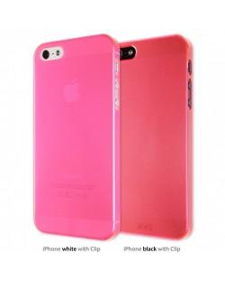 Калъф Artwizz SeeJacket Clip Neon за iPhone 5, Iphone 5s -  розов-прозрачен