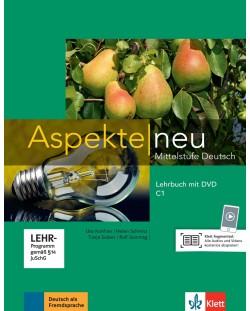 Aspekte Neu C1: Lehrbuch + DVD / Немски език - ниво С1: Учебник + DVD