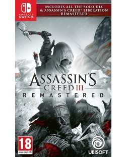 Assassin's Creed III Remastered + All Solo DLC & Assassin's Creed Liberation (Nintendo Switch)