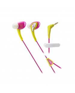 Слушалки Audio-Technica ATH-SPORT2YP - розови