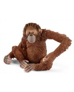 Фигурка Schleich от серията Азия и Австралия – Орангутан – женски