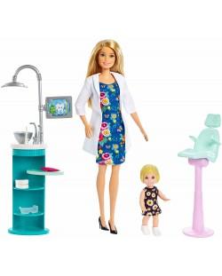 Игрален комплект Mattel Barbie - Зъболекарка