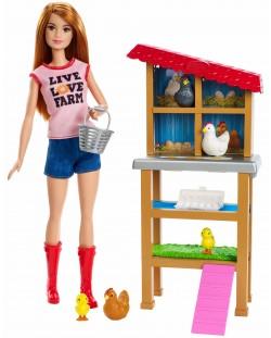 Игрален комплект Mattel Barbie - Фермерка