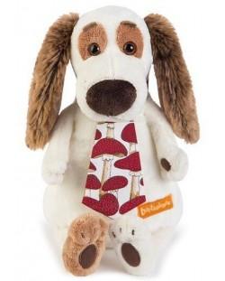 Плюшена играчка Budi Basa - Кученце Бартоломей, с вратовръзка, 33 cm