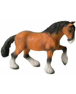 Фигурка Bullyland Animal World/Horses - Шайрски кон, кастриран