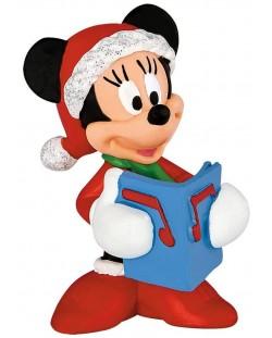 Фигурка Bullyland Mickey Mouse & Friends - Мини Маус, в коледен костюм