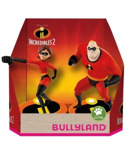 Комплект фигурки Bullyland Incredibles 2 - Господин Феноменален и Еластина