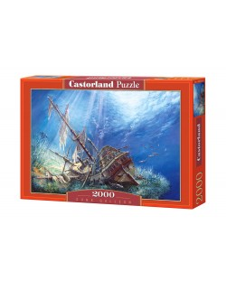 Пъзел Castorland от 2000 части - Потънал кораб