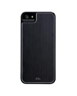 CaseMate Brushed Aluminium за iPhone 5 -  черен
