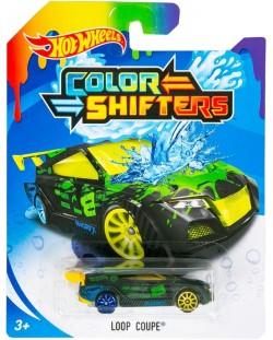 Количка Hot Wheels Colour Shifters - Loop Coupe, с променящ се цвят