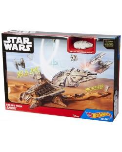 Игрален комплект Mattel Hot Wheels - Бягство от Джаку, Star Wars