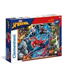 Пъзел Clementoni от 104 макси части - Спайдърмен