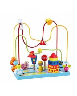 Дървена играчка за координация тип лабиринт Classic World - Улица