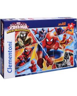 Пъзел Clementoni от 24 макси части - Спайдърмен