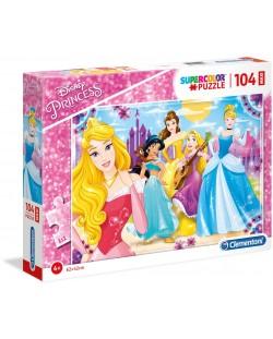 Пъзел Clementoni от 104 макси части - Принцеси