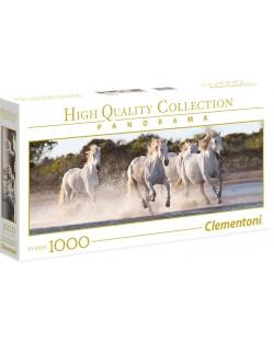 Панорамен пъзел Clementoni от 1000 части - Галопиращи коне