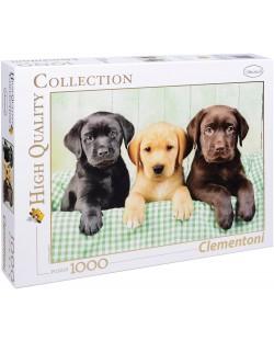 Пъзел Clementoni от 1000 части - Три лабрадорчета