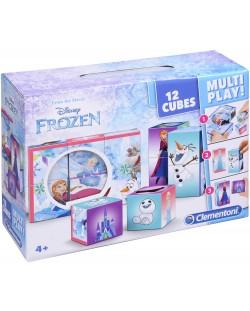 Кубчета за игра Clementoni - Замръзналото кралство, 12 броя